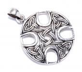 Keltischer Anhänger ~ KELTOI ~ 3 cm - Irisches Kelten-Kreuz - Celtic Cross - Silber - Windalf.de