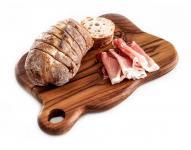 Schneidbrett ~ LOURA ~ l: 24 cm - Frühstücksbrett - Handarbeit aus Holz - Windalf.de