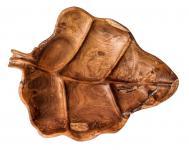 Rustikale Holz Deko-Schale ~ FAIRY ~ b: 30 cm - Teakholz Schale aus Handarbeit - Windalf.de