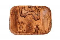 Elfen Obst Holzschale ~ ARINA ~ 25 cm - Deko Geschenk Schale - Snack Kekse Münzen- & Schlüsselschale - Handarbeit aus Holz - Windalf.de