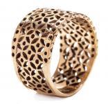 Breiter Wikinger Frauen Ring ~ SVENJA ~ h: 1.2 cm - Byzantinischer Ring - Bronze - Windalf.de