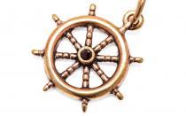 Seefahrer Anhänger ~ MARE ~ Ø 2 cm - Schiffs-Steuerrad - Vintage Bronze - Windalf.de