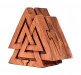 Geschenk- & Schmuck-Dose ~ VALKNUT ~ b: 10 cm - Odins Knoten - Handarbeit aus Holz - Windalf.de