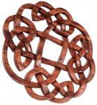 Celtic Wand Deko ~ FLORY ~ Ø 25 cm - Keltischer Knoten - Vintage - Handarbeit aus Holz - Windalf.de