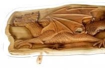 Langer Couchtisch ~ ARVO ~ l: 160 cm - Drachen Wohnzimmertisch - Handgearbeitetes Unikat - Windalf.de