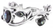 Zarter Elfen Ring ~ ARISHA ~ 7 mm - Seeopal - Freundschaftsring - Vintage Silber - Windalf.de
