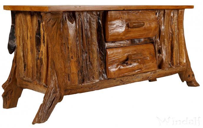 VIntage Kommode ~ LIVYA ~ 114 cm - Rustikales Lowboard mit 2 Schubladen - Handarbeit - Windalf.de