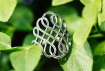 Wikinger Damen Ring ~ LUCIANA - Freyas Fackel - Ornamentik - Silber - Windalf.de
