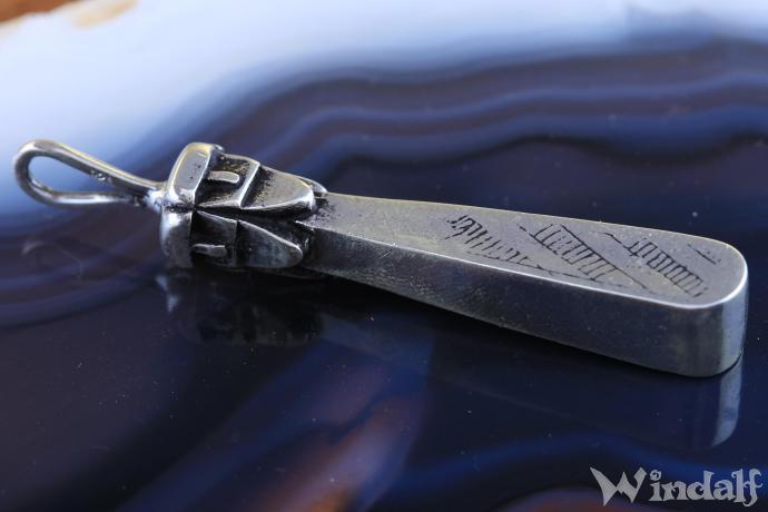 Pagan Kraft-Anhänger ~ SVANTEVIT ~ 6.5 cm - Slavische Gottheit - Glücksamulett - Vintage Silber - Windalf.de