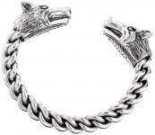 Vikings Damen Armreif ~ STARK ~ Ø 5.6 cm - Wikinger Armschmuck für Kriegerinnen - Handarbeit aus Silber - Windalf.de