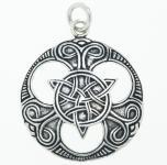 Anhänger ~ BALDIRA ~ Triade mit keltischen Knoten - Vintage Silber - Windalf.de