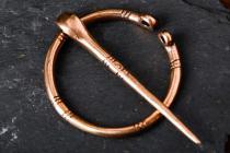 Mittelalter Fibel ~ THOINA ~ Ø 3 cm - Vintage Bronzebrosche - Windalf.de
