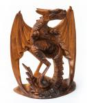 Dekofigur Drache ~ SEPTORIX ~ h: 21 cm - Pagan Drachen-Skulptur - Handarbeit aus Holz - Windalf.de